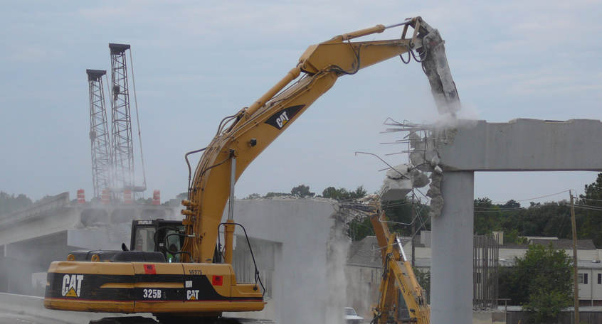 Demolition of IH 10 W / Beltway 8 Interchange, Houston, Texas
